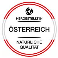 Natural Produkte Siegel - hergestellt in Österreich