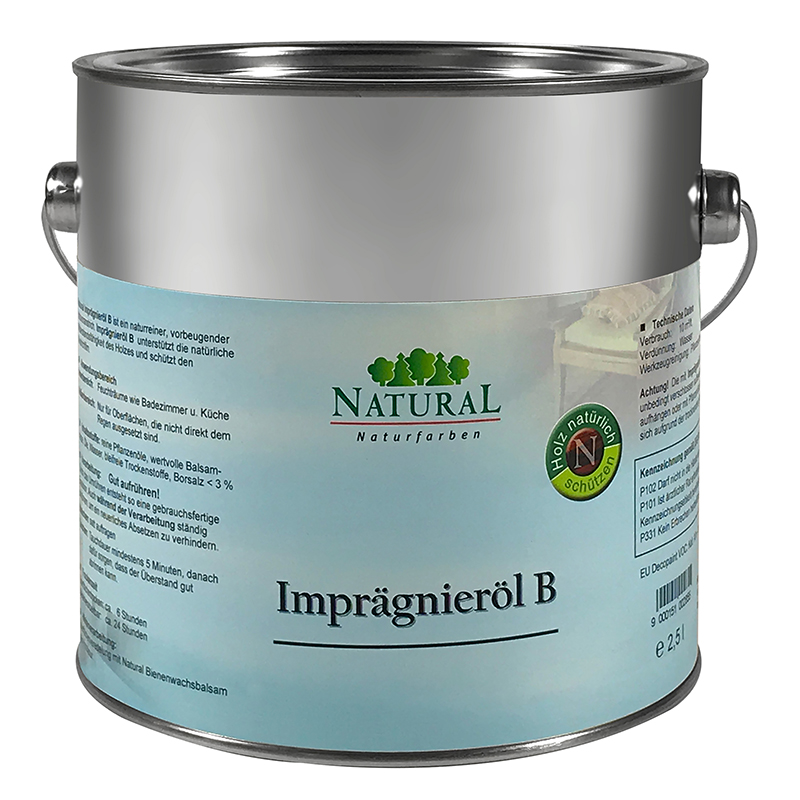 Natural Imprägnieröl B 2,5l » Naturalfarben.at Onlineshop