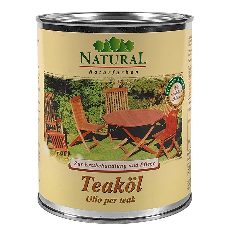 Natural Teaköl 0,75l » Naturalfarben.at Onlineshop