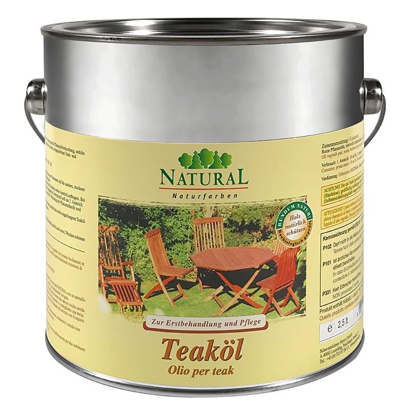 Natural Teaköl 2,5l » Naturalfarben.at Onlineshop