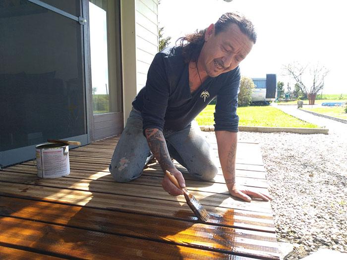 Naturalfarben Natural Holzlasur Eiche - Terrassenboden reinigen & pflegen